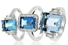 March Birthstone - Aquamarine / A celebration of the beautiful piercing blue Aquamarine Stone, best worn big and bold!