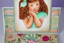 My Pink Gem cards / My cards using Pink Gem digis