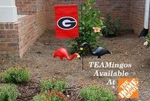 TEAMingos / Fans of a feather flock together. Bring your love of the game to the garden with one of this season's most highly anticipated lawn decorations – Southern Patio's TEAMingos.