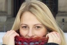 COLOREL - Strickwaren / Ein echter Hingucker - dicker grober Schlauchschal aus Wolle der Akzente setzt. Er kann bis unter die Nasenspitze gezogen oder einfach umgekrempelt werden.  http://www.colorel.de/store/strickwaren/damen/