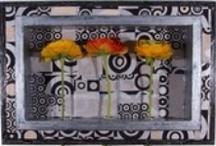 COLOREL - Rahmen Retro / Die Blumenvasen für die Wand!