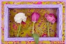 """COLOREL - Rahmen """"Garten"""" mit Blumenvasen"""