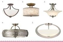 Flush Mounts / Flush lights are low-profile lights that are perfect for hallways, closets, and modest ceilings.