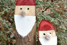 Christmas Party at the Barn / Rustic Christmas Decoration Ideas