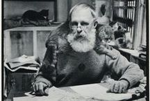 Edward Gorey / MASTERS OF ILLUSTRATION Edward St. John Gorey (February 22, 1925 – April 15, 2000) was an American writer and artist noted for his illustrated books. His characteristic pen-and-ink drawings often depict vaguely unsettling narrative scenes in Victorian and Edwardian settings.