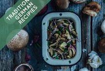 Traditional German Recipes / winter vegetables, winter fruits, winter vegetable stew recipe, Swiss chard, pine nuts, raisins, apple-citrus salad, honey cinnamon pears, German comfort foods, Flammkuchen, Käsespätzle, Frikadellen, Spargelcremesuppe, Currywurst, Bratkartoffeln, Saurbraten, Apfelstrudel, Knödel, Schnitzel, food, red cabbage, salad, slow cooker, flavorful, Traditional, German, recipes, Europe, bratwurst, wurst, sausage, Germany, food, region