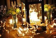 Table Scapes / Ideas for table arrangements