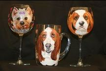 Custom Pet Portrait Wine Glasses / Custom Pet Portrait Wine Glasses from www.WaggingTailPortraits.com. You will be the toast of the town.
