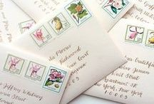 E N V E L O P E S P I R A T I O N / envelopes. vintage stamps. lettering. calligraphy. wedding invitations. pretty paper things.