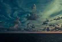 cloud watching/ wave catching