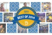 SJSU's Best of 2014 / We've had quite a year at SJSU! This December, we spent some time reflecting on all the good that has come out of San Jose State in 2014—and there's LOTS of good. Each day for the next two weeks, we'll share one of the stories that captured the imagination, intellect and heart of our community, from feats of science to civic justice, athletics to rock and roll. Thus, it is with pride and joy that we present to you: The SJSU Best of 2014! / by SJSU