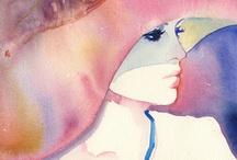 Aquarel / Watercolor / Aquarelle / Acuarela / Acquerello  / Inspirerende aquarellen / kunst