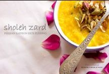 Sholeh Zard Persian Rice Pudding
