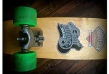 MY SKATEBOARDS / Vintage skateboards – 70s G&S Fibreflex decks, Gull Wing trucks, and Kryptonics wheels – and their modern or custom equivalents. I ride these on Brighton seafront.