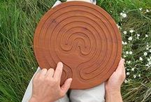 PEACE STORE / We carry portable wood finger labyrinths to encourage mindfulness and meditation where ever you go.
