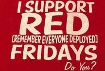 """R.E.D. Fridays / Every Friday we wear red to """"Remember Everyone Deployed"""" and I give away wristbands on my Facebook page. PM me your address on FB and I'll send you one: https://www.facebook.com/SharonHamiltonAuthor/"""