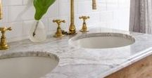 bathrooms | / interior design, residential design, bathroom design, master bath, powder room