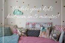Kid's room ideas / Quick and easy ideas to try in your kid's rooms