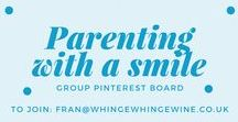 Parenting with a smile board / Group pinterest board. Posts relating to #kids, #parenting, being a mum, #momlife and things of that nature... No spam or affiliates. Pretty pins please! 5 pins a day limit and repin 1:1.  Follow and email fran@whingewhingewine.co.uk