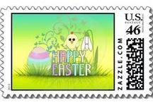 Easter gifts / Easter bunny, Easter egg, spring flowers...