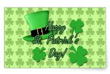 St. Patrick's Day gifts and invitations / Fun and cool Irish holiday St. Patrick's Day (17th March) goodies with green beer, clovers, shamrocks, top hats, ginger moustache and more.