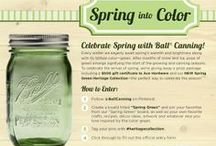 Spring into Color Contest! / CONTEST IS NOW CLOSED. Celebrate the arrival of spring with the new Spring Green Heritage Collection Jars! We're giving away a prize package including a $500 gift card to Ace Hardware and our NEW Spring Green Heritage Collection—the perfect way to celebrate the season!  / by Ball® Canning