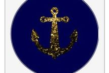 Sail away (anchors) / Unique custom apparel, home decor accesories with anchors, boats, sailing...