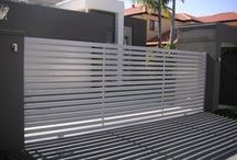 Horizontal Slat Gates / Examples of different automatic gate designs from us and others. - Like One? - Ask if we are able to make it for you.
