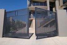 Modern / Contemporary Gates / Examples of modern & contemporary automatic gate designs from us and others. - Like One? - Ask if we are able to make it for you.