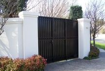 Solid Fill Gates / Examples of different automatic gate designs from us and others. - Like One? - Ask if we are able to make it for you.