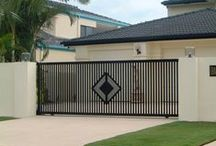 Sliding Gates / Examples of different styles of automatic sliding gates from us and others - Like One? - Ask if we are able to make it for you.