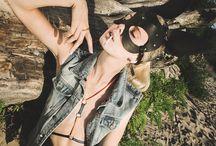 Bunny girl / Bunnygirl in summer photo shoot  Harnessbra