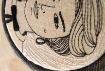 my Custom Portraits / custom embroidery illustration portraits by polykatoikia