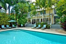 Key West Swimming Pool Gardens / Key West swimming pools with tropical landscaping is a fantasy all it's own. Imagine yourself relaxing in one of these fabulous pool garden scenes.