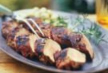 Food - grill / Preparing meat and veggies for grill. Desserts suitable for grill menus DIY solutions for unwanted pests. Best utensils;  picnic  decor, outdoor serving ideas  / by Linda