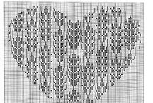 ❥ CROSS STITCH - hearts ❥