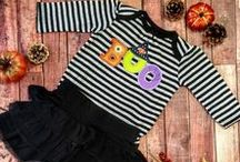 Spooky Halloween DIY shirt ideas / Need something creepily cute for your little one on this Halloween holiday? Here are some ideas of easy less than 5-minute ways to create a ghoulishly adorable garment or trick of treat bag! Try some of these today!