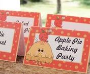 Apple Pie Baking Party / Apple Pie Baking Party Ideas, Templates, and Printables.