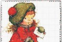 sara key cross stitch