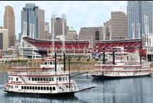 Boats / BB Riverboats has two boats-The Belle of Cincinnati and the River Queen. We run cruises- both public and private- in the Cincinnati area