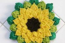 CROCHET / szydelowe  kwiaty