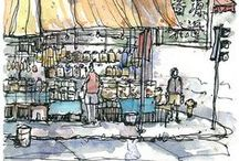 Illustrations - Sketches / Watercolor, pencil art, architectural drawings, ...