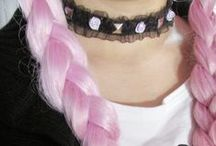 random || her rainbow hair / | | died hair | |