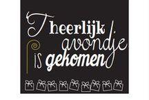 SinterklaaS / Sinterklaas, zwarte Piet, pepernoten en chocolade letters