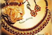 Mariam abalorios: Collares,colgantes - Necklaces- Kragen- collare- gayér- collier- ciondolos. / My   beading necklaces and  pendants-