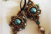 Mariam abalorios: Pendientes - earrings - ohrringe- orecchini- boucles do´rreiges- fülbevaló / Pendientes. Beading earrings