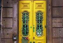 Incredible Doors / A pop of color, hand-carved design, or magical details...these doorways must lead to incredible spaces.