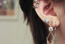 Piercings / Piercings including ears nose