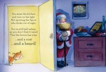 """My Christmas books / Santa in a book - the ideal Christmas present! Find out what happens when Santa's sleigh dips out of sight and you forget to put food out under the Christmas tree, or in my early reader """"First Santa"""" book."""