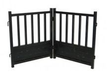 Indoor Dog Gates / Decorative Indoor Dog Gates made from rich wood, durable steel or iron can add a touch of elegance while keeping your dog safely confined to an area in your home.
